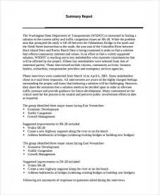 sample interview summary templates 5 free documents
