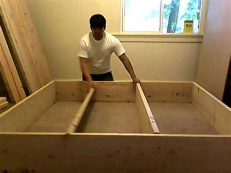 building platform bed frame part    youtube