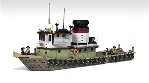 lego boat full size lego ideas tug boat