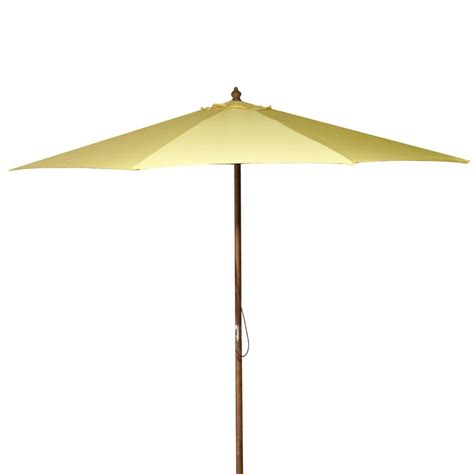 Yellow Patio Umbrella Shop Manufacturing Canary Yellow Market Patio Umbrella Common 9 Ft W X 9 Ft L Actual