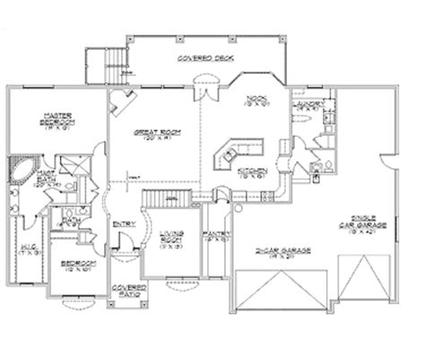 rambler floor plans with basement rambler house plans with basements traditional rambler home plan hwbdo75133 traditional