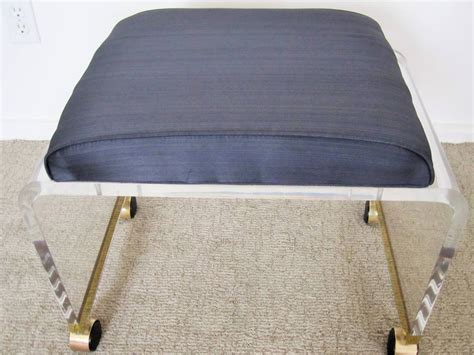 upholstered seat cushions lucite and brass vanity seat with upholstered cushion at