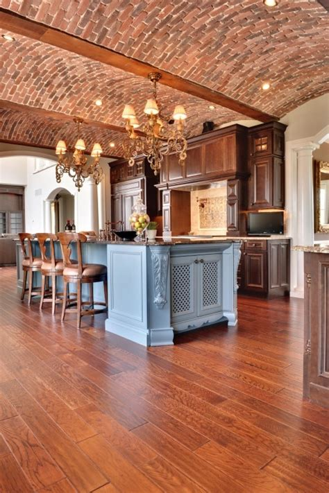 Ceiling Brick 74 Stylish Kitchens With Brick Walls And Ceilings Digsdigs