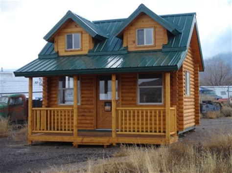 big or small log homes color country painting
