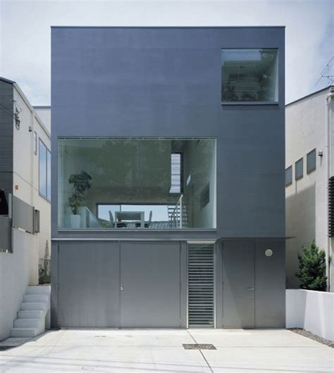 modern industrial design house in japan blends