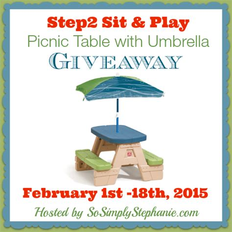 step2 sit play picnic table with umbrella giveaway