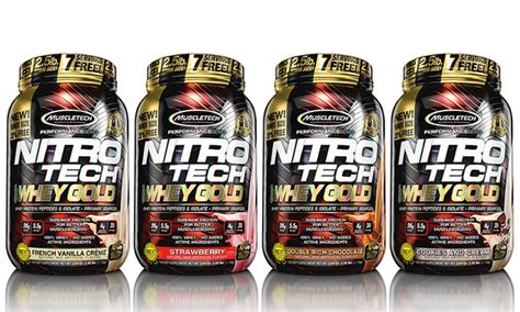 Promo On Whey Gold Standard Nitro Tech Combat Iso 100 Whey Protein 5 muscletech protein supplement groupon goods