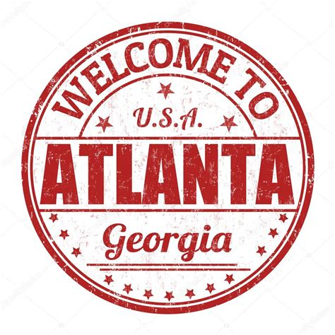 rubber sts atlanta welcome to atlanta st stock vector 169 roxanabalint