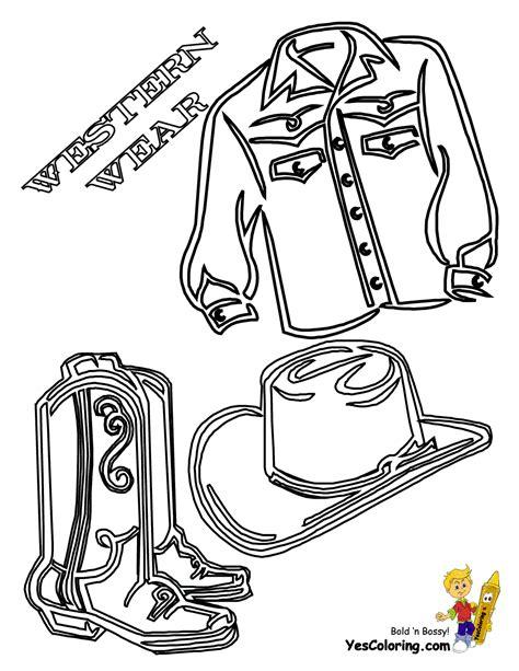 saddle  cowboy picture coloring  cowboy coloring
