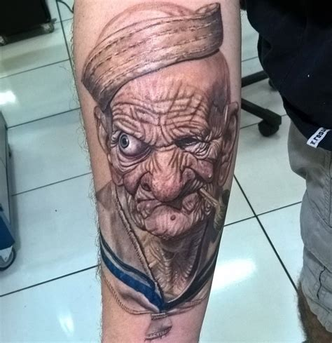 popeye forearm tattoo popeye best design ideas