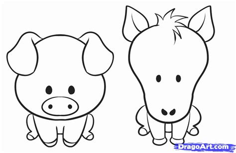 how to doodle animals best photos of farm animal drawings for easy to