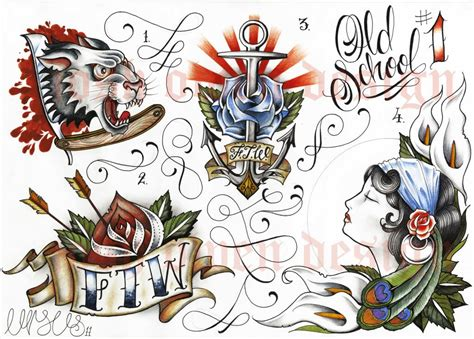 new school tattoo flash art flash art images reverse search