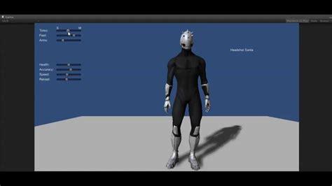 unity tutorial character customization unity3d character creator prototype youtube