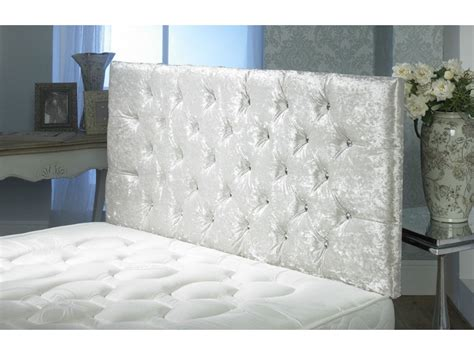 Velvet Buttoned Headboard California Crushed Velvet Buttoned Headboard