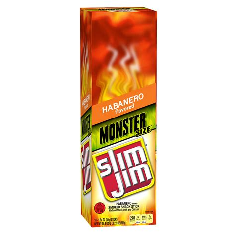 Slim Jim Habenero Sticks slim jim smoked stick tabasco