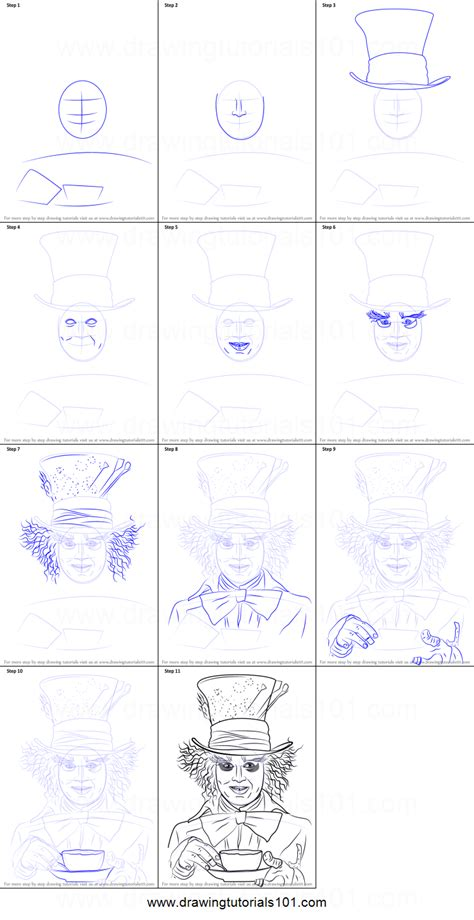 how to draw doodle characters step by step how to draw mad hatter printable step by step drawing