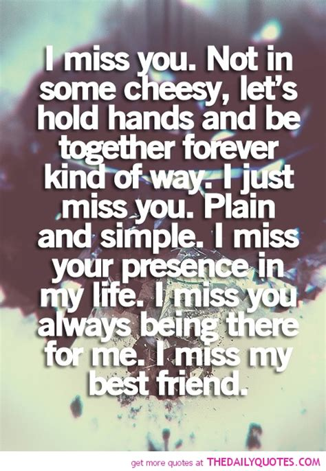 Quotes About Missing Your Friends by Missing Best Friend Quotes And Sayings Image Quotes At