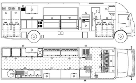 truck cer floor plans food trucks floor plans kitchens home design and decor