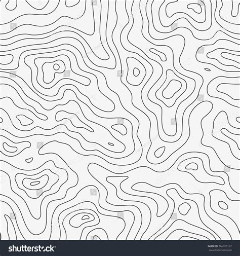 seamless map pattern topographic map seamless pattern vector background stock