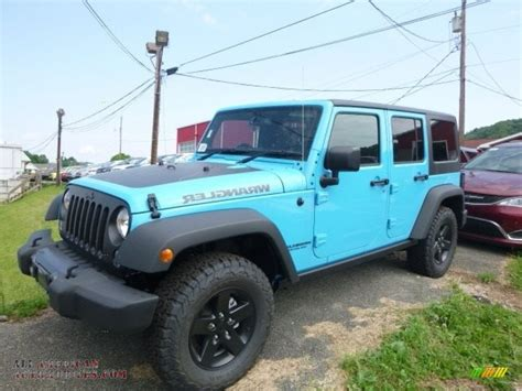 jeep 2017 blue 2017 jeep wrangler unlimited sport 4x4 in chief blue