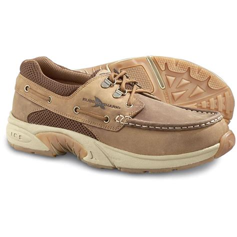 rugged shark atlantic s rugged shark 174 atlantic boat shoes light brown 82229 casual shoes at sportsman s guide