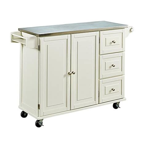 home styles liberty kitchen island with stainless steel buy home styles dolly madison liberty kitchen cart with