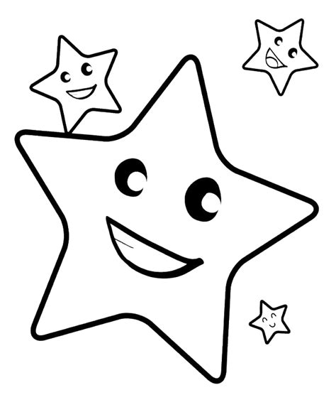 Star Line Drawing Cliparts Co Starry Coloring Page