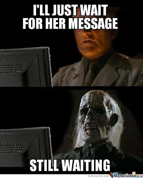 waiting   crushs text  androguy meme center