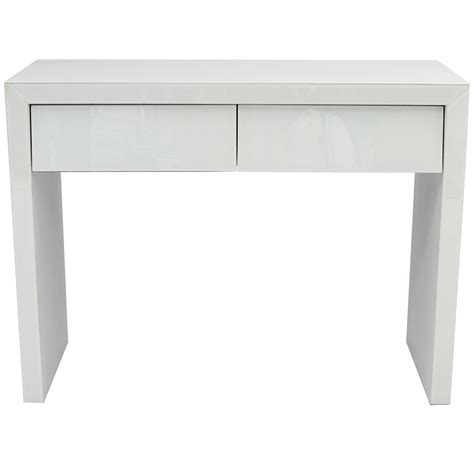 White Glass Dressing Table French Furniture from Homesdirect 365 UK