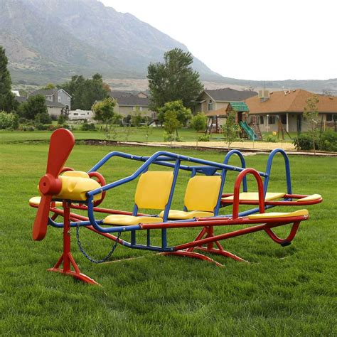 kids backyard play equipment lifetime 151110 airplane teeter totter on sale with free