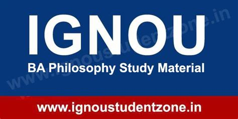 Ignou Mba Study Material by Ignou Ba Philosophy Study Material Free Ignou