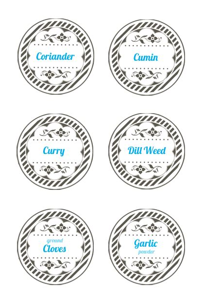 spice label templates graphic monday spice jar lid labels discover create live