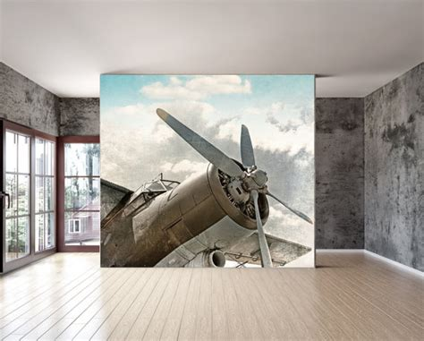 aircraft wall murals wall mural vintage airplane wall paper repositionable