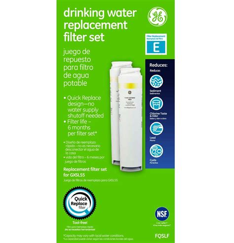 ge under water filter ge fqslf dual stage under counter water filtration system