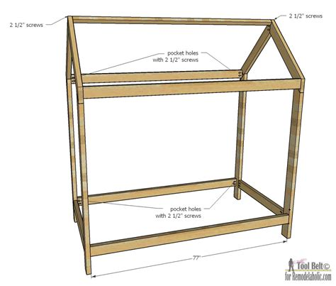 plans for a bed frame remodelaholic house frame bed building plan