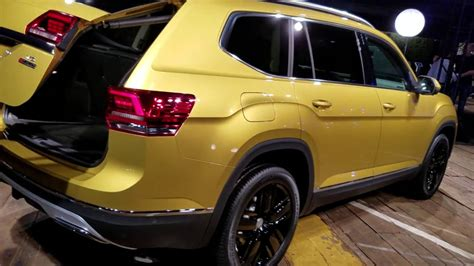 volkswagen atlas 7 seater 7 seat 2018 vw v6 atlas suv revealed