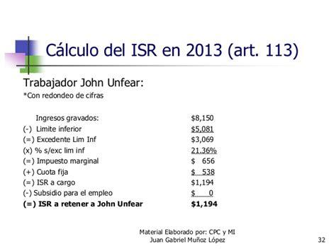 calculo de isr a residentes en el extra isr articulo 113 newhairstylesformen2014 com