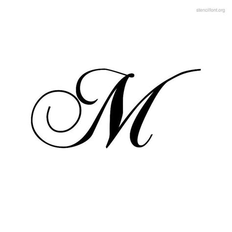 M Search For The The Letter M In Cursive Sle Letter Template