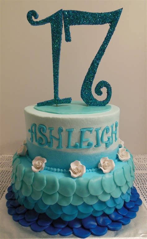 Cake Topper Birthday Topper Topper Kue Hiasan Kue Murah shades of blue 17th birthday cake birthday