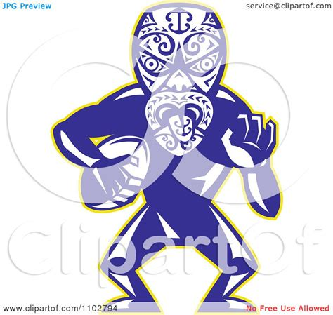 maori clipart clipart maori warrior rugby player royalty free vector