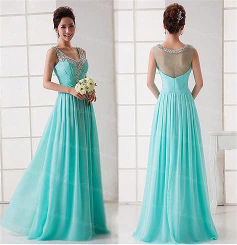 Bright Formal Dresses - prom dress light blue prom dress chiffon prom dress