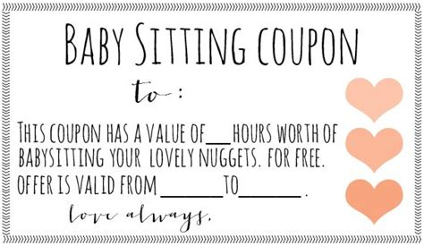 printable vouchers baby free downloadable babysitting coupon might start