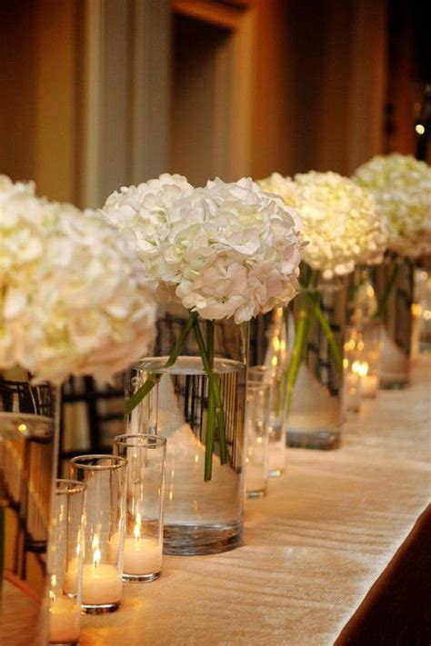 hydrangea centerpiece beautiful plus cost efficient they