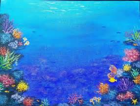 Christmas Scene Wall Murals ocean coral reef free acrylic painting tutorial by angela