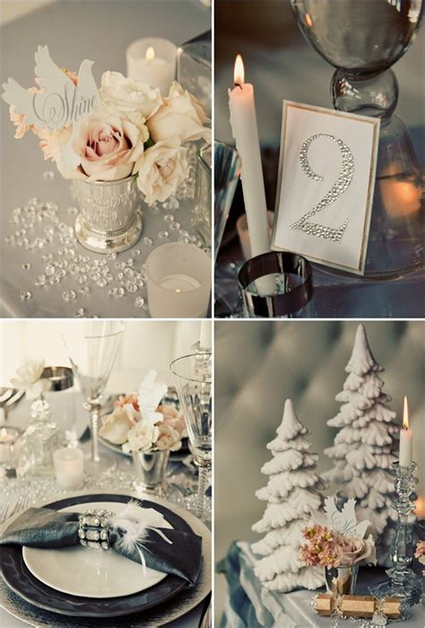 winter wedding table decor 32 original winter table d 233 cor ideas digsdigs