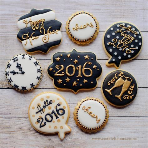 new year cookies and cakes cookielicious nz s cookie decorating