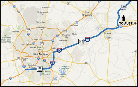 texas toll road map maps sh130