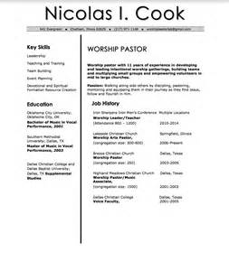 Worship pastor cover letter sample