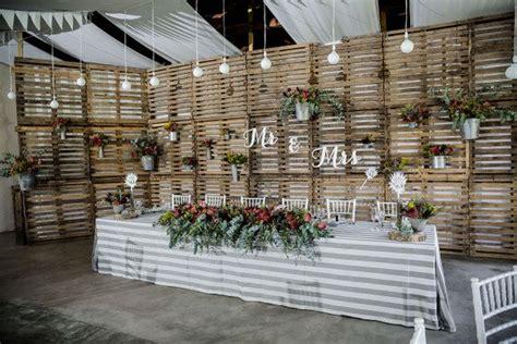 Pallet Wedding Decor 018 M Amp B Proteas Pallets Rustic Wedding Nikki Meyer