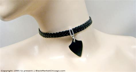 dominant collar collar for dominant or master or braided leather with